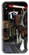Main Street Horse And Trolley IPhone Case