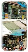 Main Street Marketplace In Tachilek-burma IPhone Case