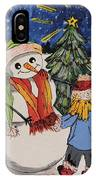 Make A Wish Snowman IPhone Case