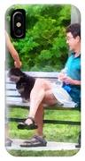 Making A New Friend In The Park IPhone Case