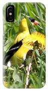 Male American Goldfinch Camouflage IPhone Case