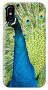 Male Indian Peacock IPhone Case