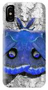 Male Moth - Brilliant Blue IPhone Case