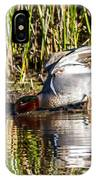 Male Teal IPhone Case