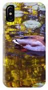 Mallard Duck On Pond 2 IPhone Case