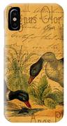Mallards And Swan Collage IPhone Case