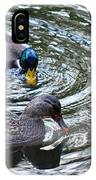 Mallards In The Creek IPhone Case