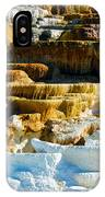 Mammoth Hot Springs Rock Formation No1 IPhone Case
