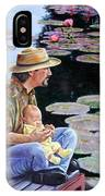 Man And Child In The Garden IPhone Case
