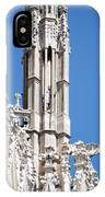 Man And Dragon Gargoyles With Tower Duomo Di Milano Italia IPhone Case