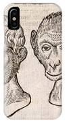 Man And Monkey's Head IPhone Case