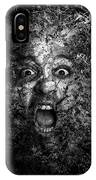 Man Eyes Face Horror Portrait Black And White  IPhone Case