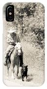 Man Horse And Dog IPhone Case