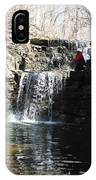 Man On A Waterfall Ledge IPhone Case