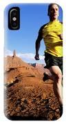 Man Running In Moab, Utah IPhone Case