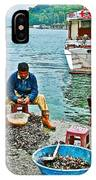 Man Selling Fresh Mussels On The Bosporus In Istanbul-turkey  IPhone Case