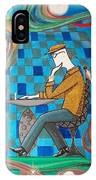 Man Sitting In Chair Contemplating Chess With A Bird IPhone Case