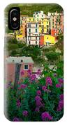 Manarola Flowers And Houses IPhone Case