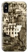 Manarola Italy Sepia IPhone Case