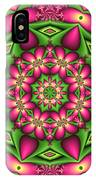 Mandala Green And Pink IPhone Case