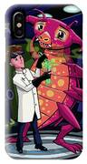 Manga Professor With Nice Pink Monster Experiment IPhone Case