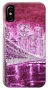 Manhattan At Night Enhanced IPhone Case