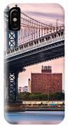 Manhattan Bridge Under A Purple Sunset IPhone Case