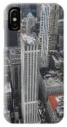 Manhattan City Canyons IPhone Case
