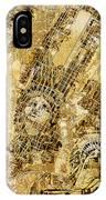 Manhattan Map Antique IPhone X Case
