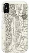Map Of Delfland Leaf Center Left The Netherlands IPhone Case