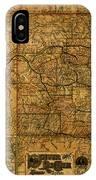 Map Of Denver Rio Grande Railroad System Including New Mexico Circa 1889 IPhone Case