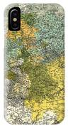 Map Of Germany 1861 IPhone Case
