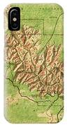 Map Of Grand Canyon National Park IPhone Case