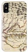 Map Of Maryland 1676 IPhone Case