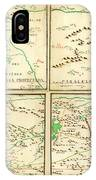 Map Of Spanish Holdings In North America 1769 IPhone Case