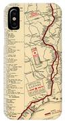 Map Of The Lone Star Route 1922 IPhone Case