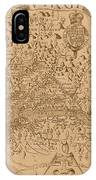 Map Of Virginia 1698 IPhone Case
