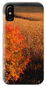 Maple And Cornfield At Dawn IPhone Case