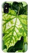Maple Leaf In The Laurel IPhone Case