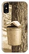 Maple Sap Buckets IPhone Case