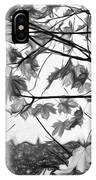 Maple Sunset - Paint Bw IPhone Case