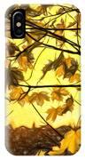 Maple Sunset - Paint IPhone Case