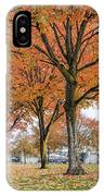 Maple Trees In Portland Downtown Park In Fall IPhone Case