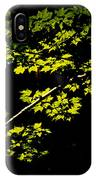 Maples Against Black IPhone Case