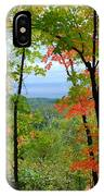 Maples Against Lake Superior - Tettegouche State Park IPhone Case