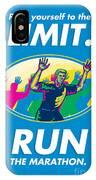 Marathon Runner Push Limits Poster IPhone Case