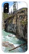 Marble Canyon In Kootenay Np-bc  IPhone Case