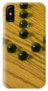 Marbles Arrow Green 1 IPhone Case