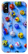 Marbles On Blue Board IPhone Case