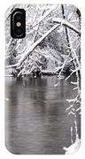 March Snow On The River IPhone Case
